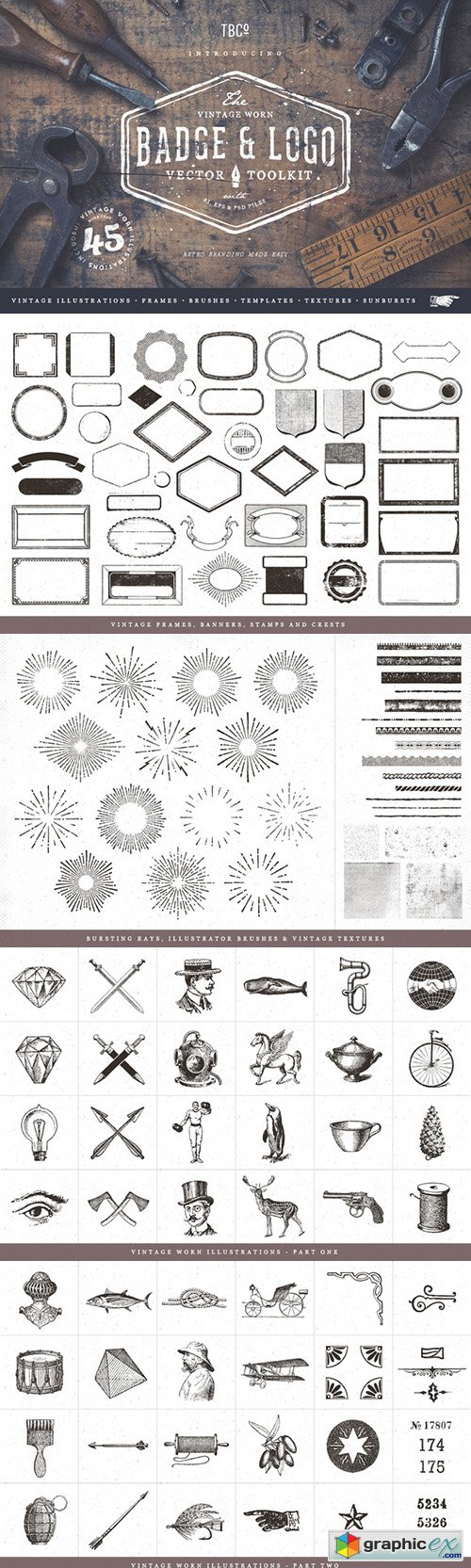 Vintage Badge and Logo Toolkit