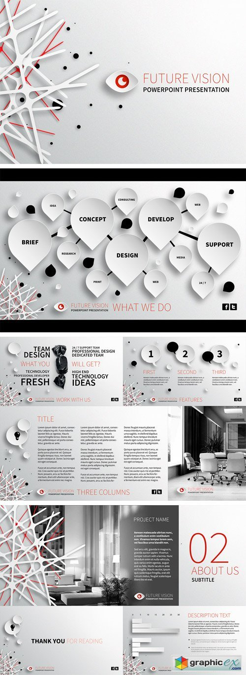 Future vision powerpoint template free download vector stock image future vision powerpoint template toneelgroepblik Images