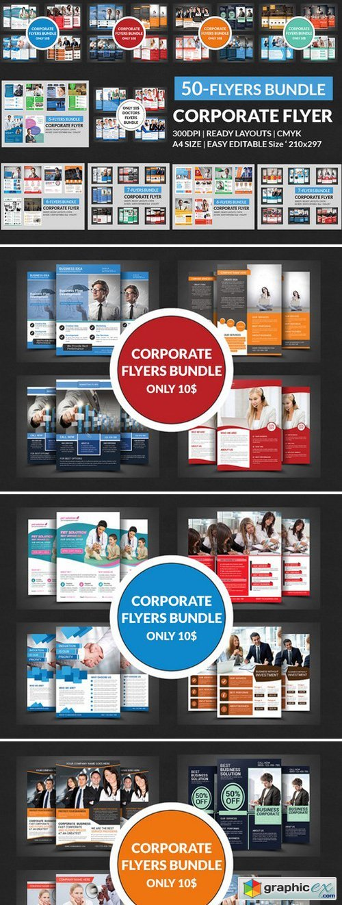 (50) Corporate Flyers Bundle
