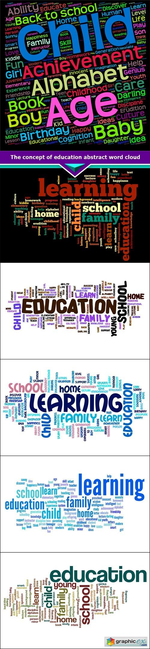 The concept of education abstract word cloud 6x JPEG