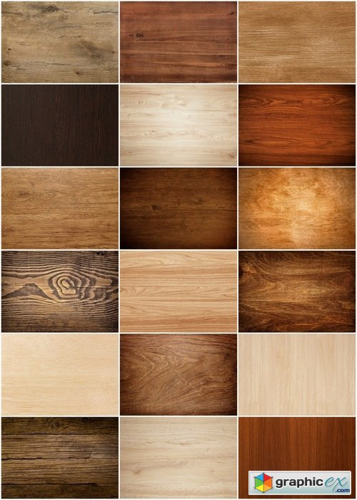 Texture of wooden flat planks - 23 HQ Jpg