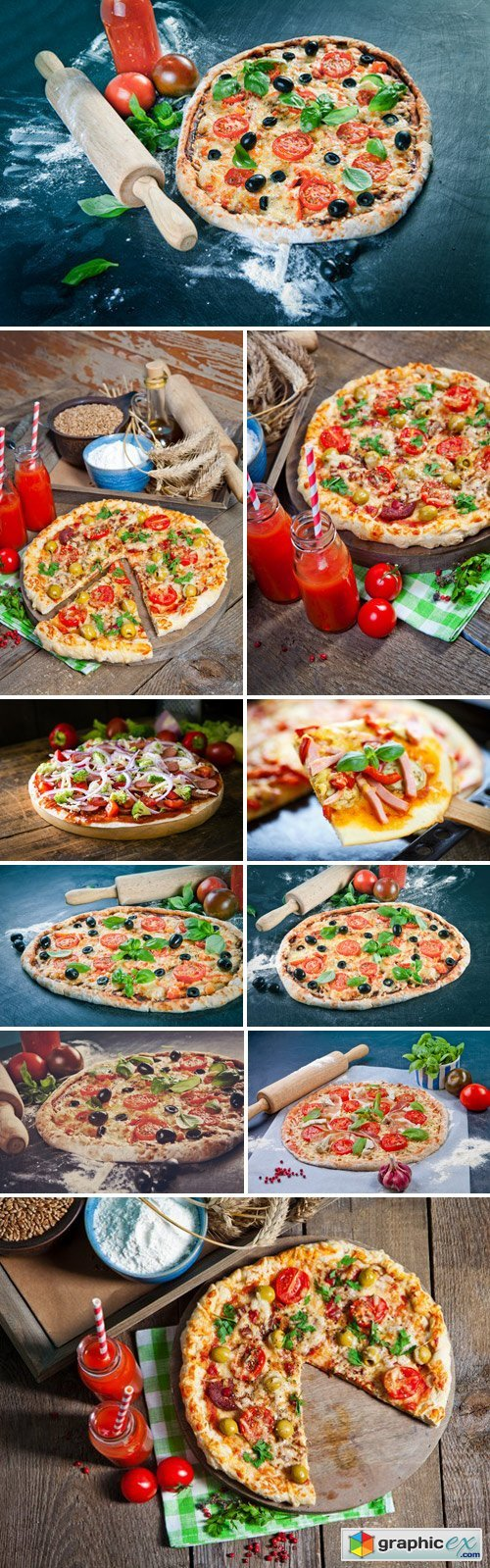Stock Photos - Homemade Pizza. the dough with the addition of fiber and provencal herbs