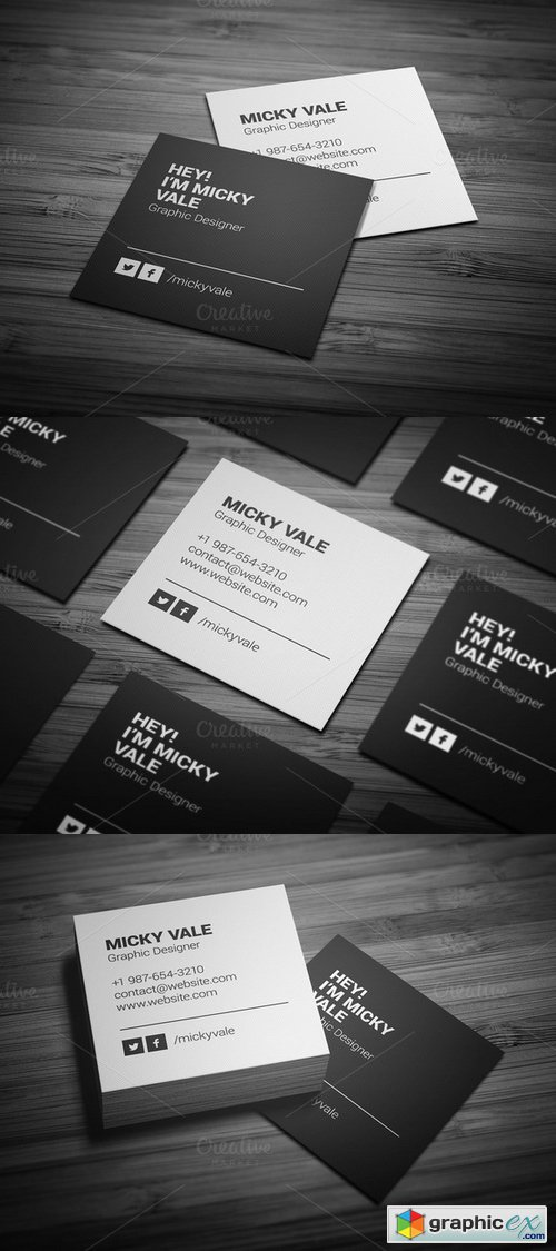 Black & White Business Card 155481