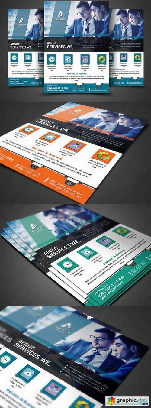 Business Planner Flyers Print Template