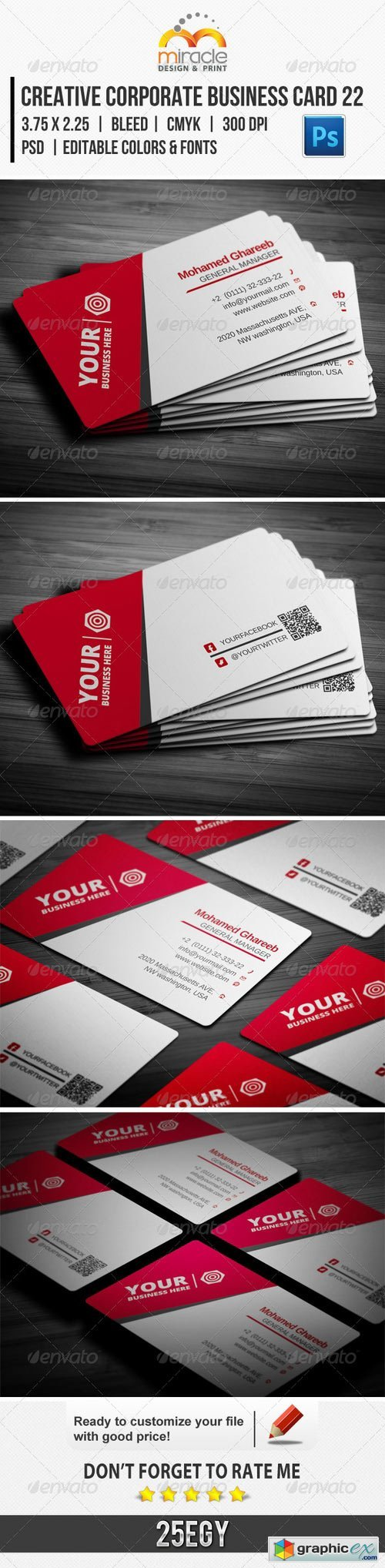 Creative Corporate Business Card 22