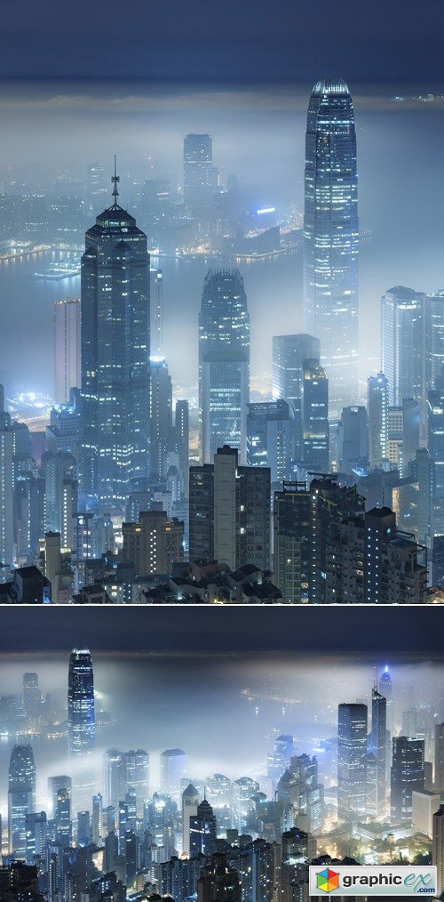 Stock Photo - Misty Night City