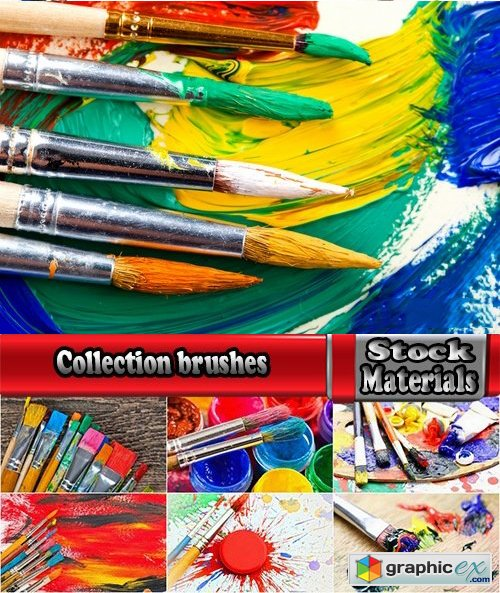 Collection brushes for painting with oil paints 25 UHQ Jpeg