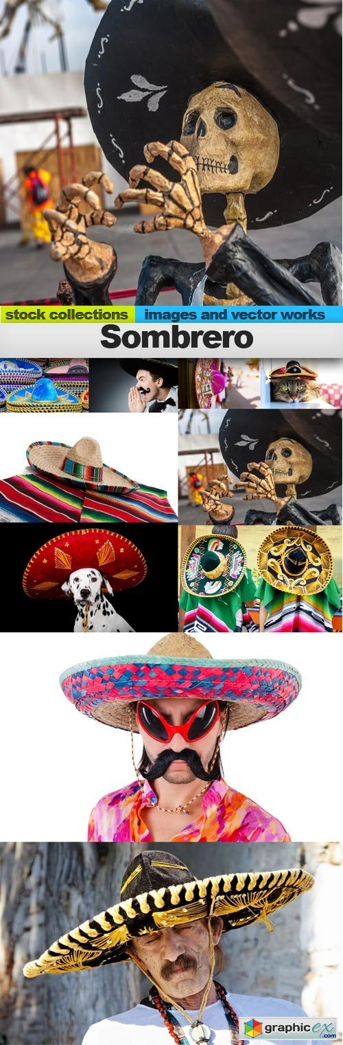 Sombrero, 10 x UHQ JPEG