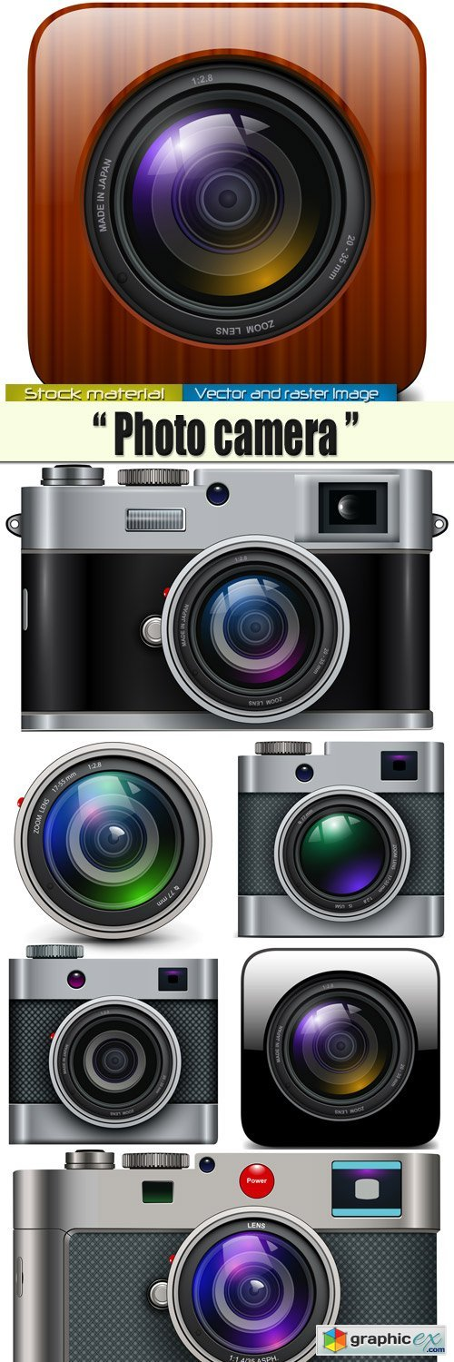Camera icons in Vector