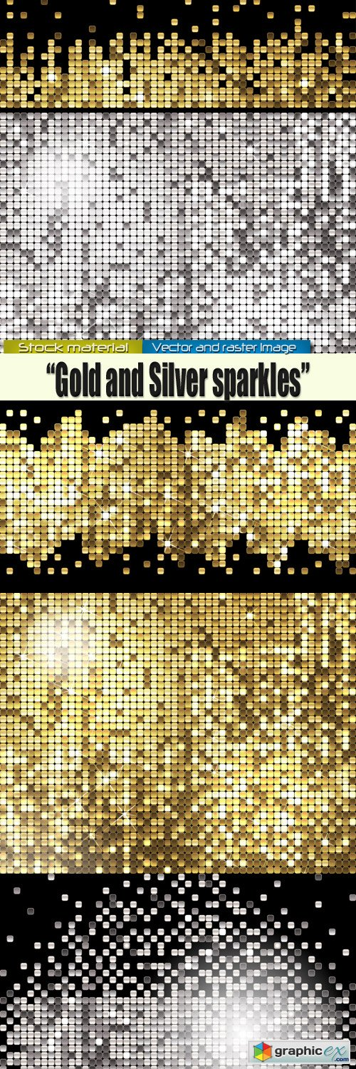 Gold and silver spangles