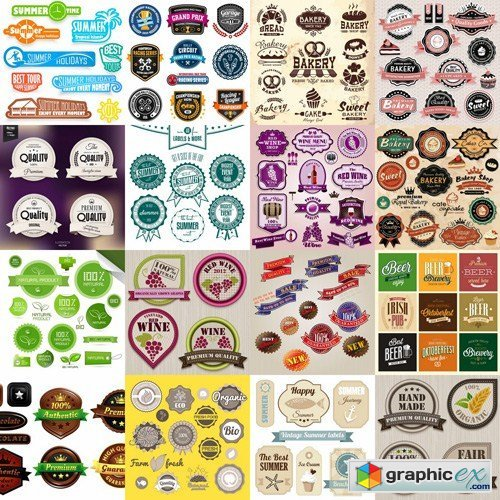 Different Labels & Stickers #2 - 25 Vector