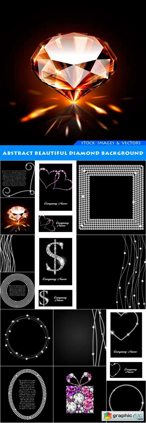Abstract beautiful diamond background 14X EPS