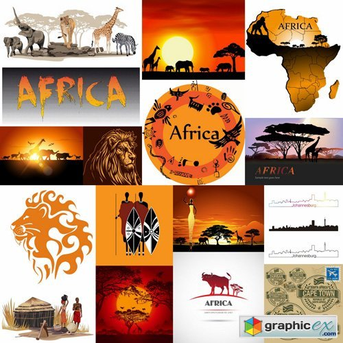 Africa Sign & Symbols - 25 Vector