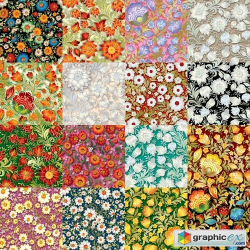 Floral Patterns - 25 Vector