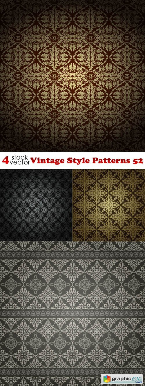Vectors - Vintage Style Patterns 52