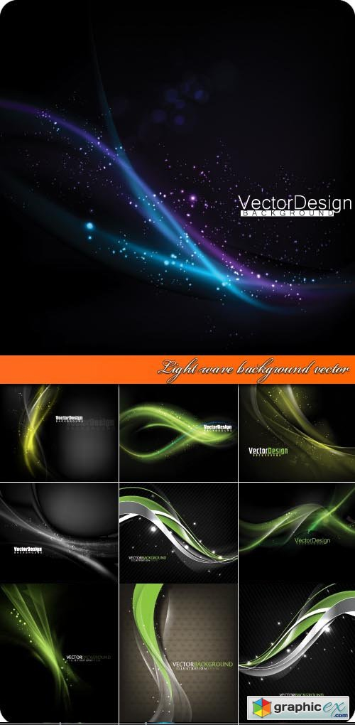 Light wave background vector