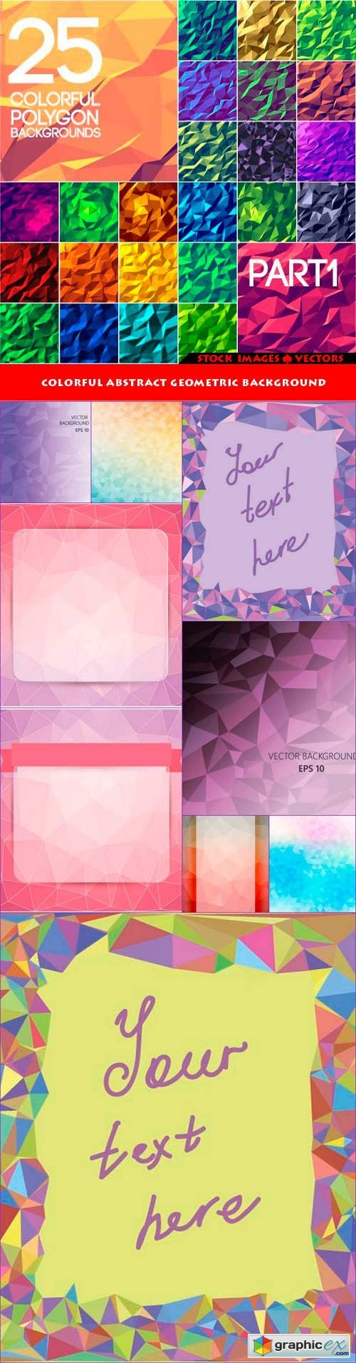 Colorful abstract geometric background 10x EPS