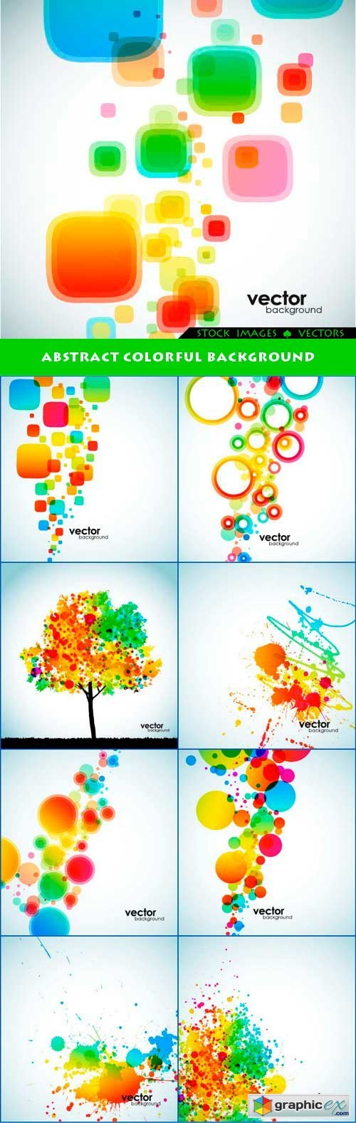 Abstract colorful background 10x EPS