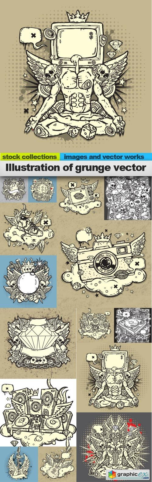 Illustration of grunge vector, 15 x EPS
