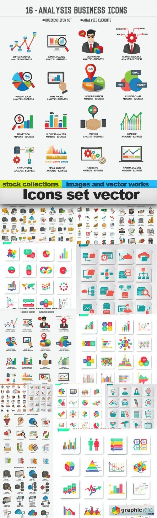 Icons set vector, 15 x EPS
