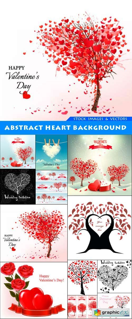 Abstract heart background 12X EPS