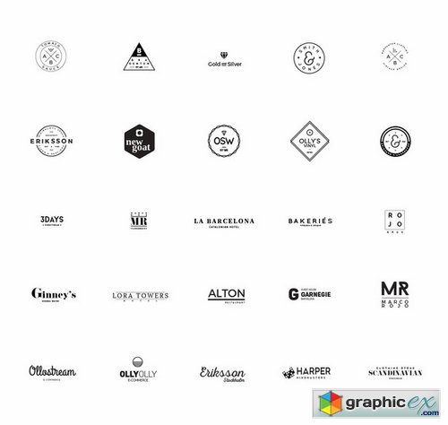 Pack Modern Logo Templates Free Download Vector Stock Image - Free modern logo templates