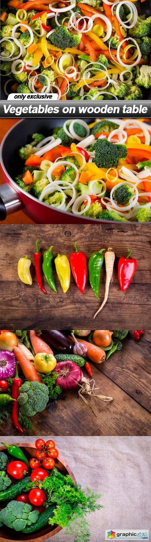 Vegetables on wooden table - 5 UHQ JPEG