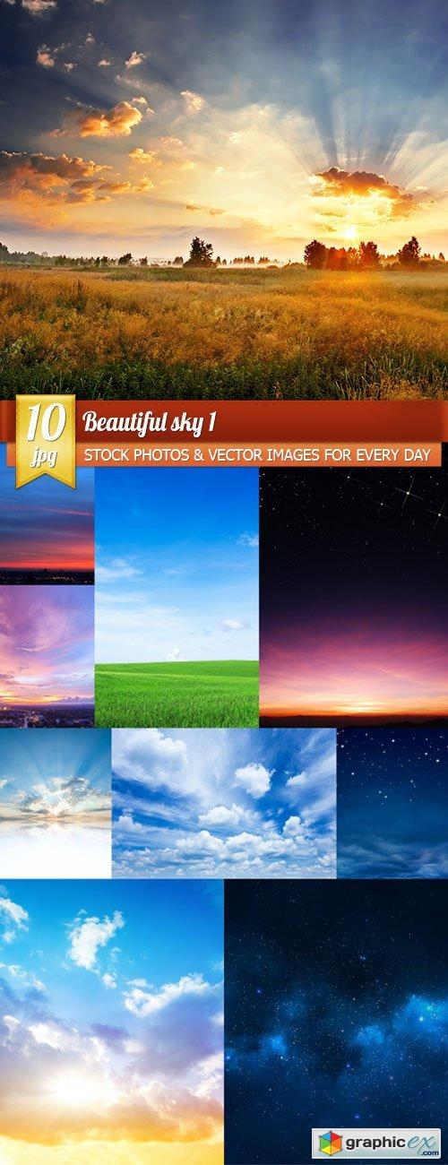 Beautiful sky 1, 10 x UHQ JPEG