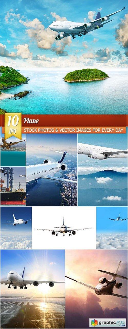 Plane, 10 x UHQ JPEG