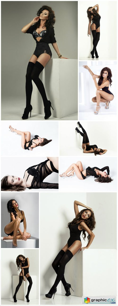 Beautiful women in different poses - Stock photo