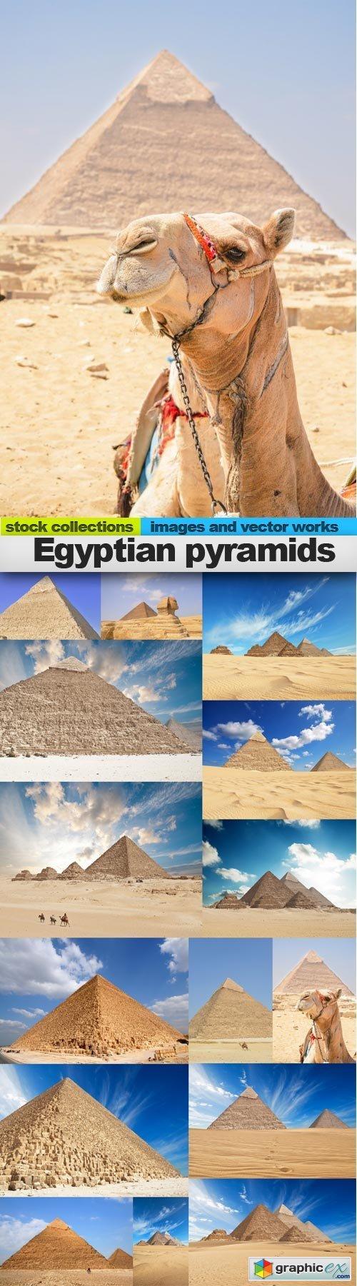 Egyptian pyramids, 15 x UHQ JPEG