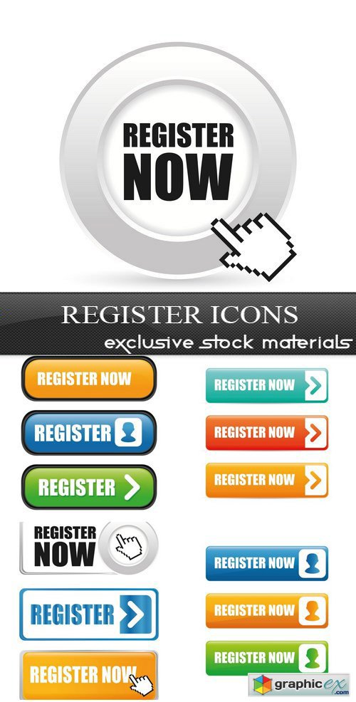 Register Icons - 5xEPS