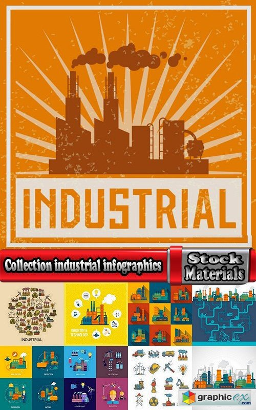 Collection industrial infographics #2-25 Eps