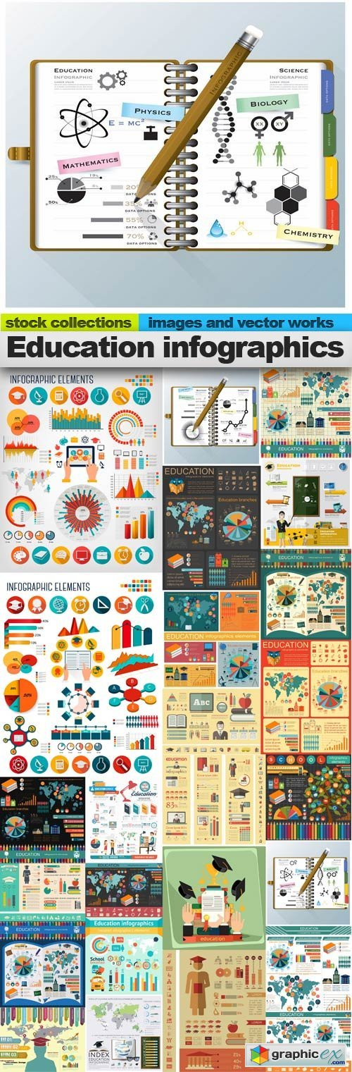 Education infographics,25 x EPS