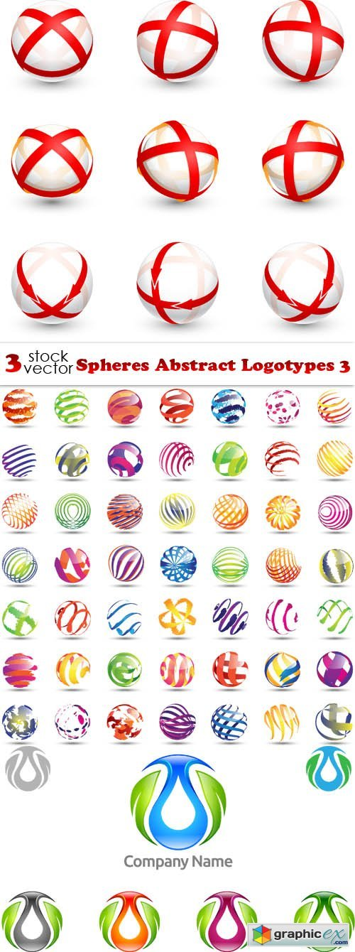 Vectors - Spheres Abstract Logotypes 3
