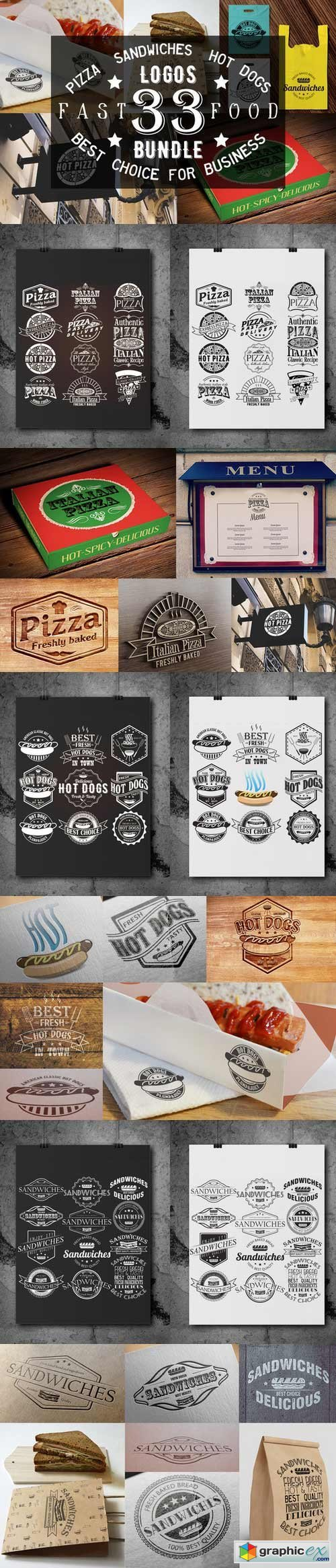 33 Pizza,Sandwiches and Hot Dog logo
