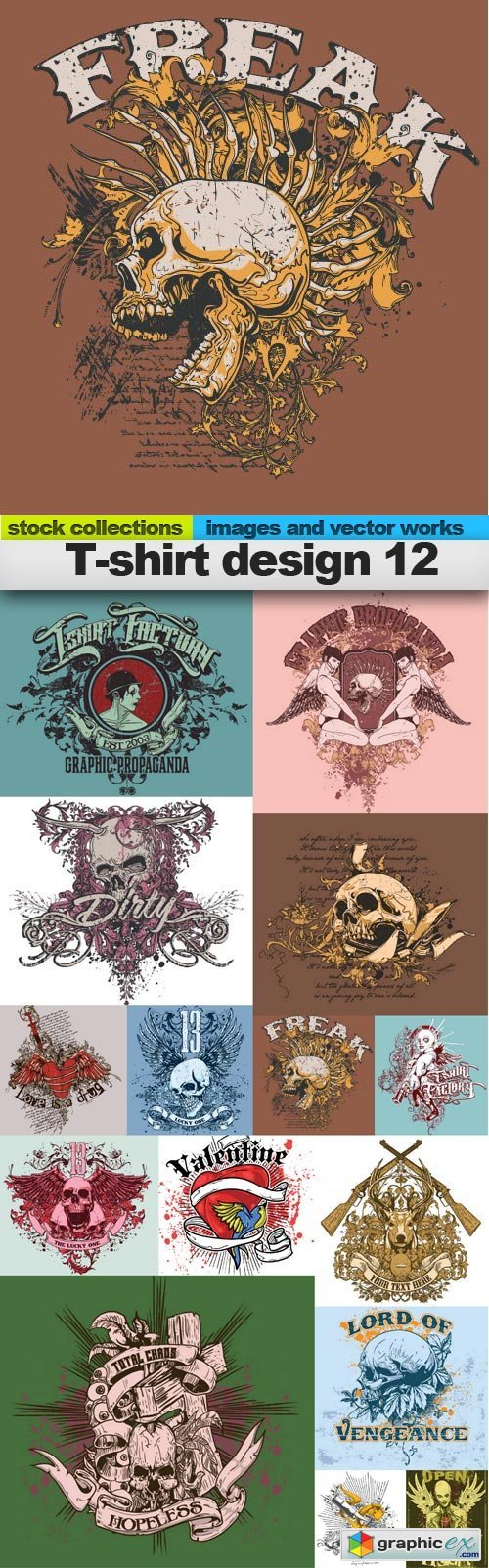 T-shirt design 12,  15 x EPS