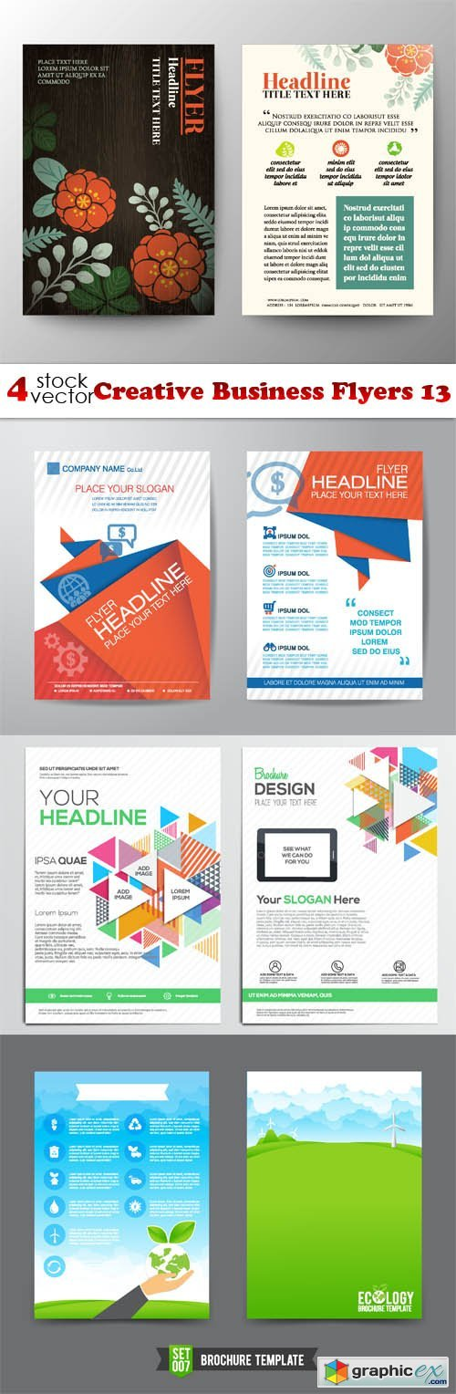 Vectors - Creative Business Flyers 13
