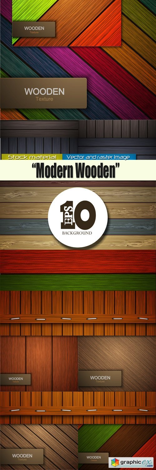 Wooden backgrounds in Vector - Modern style