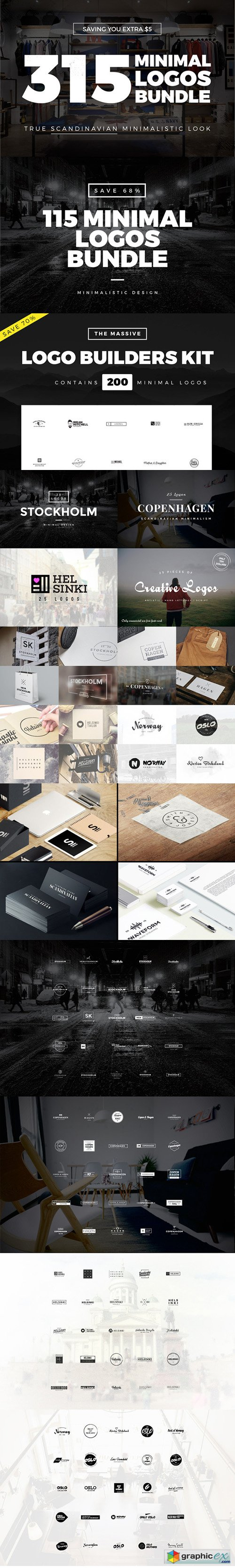 315 Minimal Logo Templates Bundle