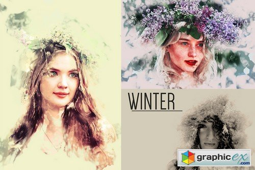 Watercolor Photoshop Action - 375146