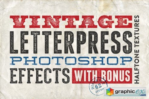 Letterpress Photoshop Effects