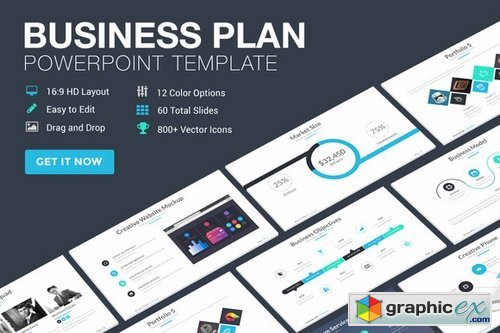 Business Plan Powerpoint Template Free Download Vector Stock - Business plan powerpoint template free download