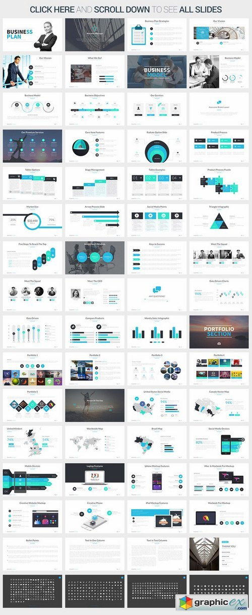 Business Plan Powerpoint Template Free Download Vector Stock - Business plan powerpoint template free