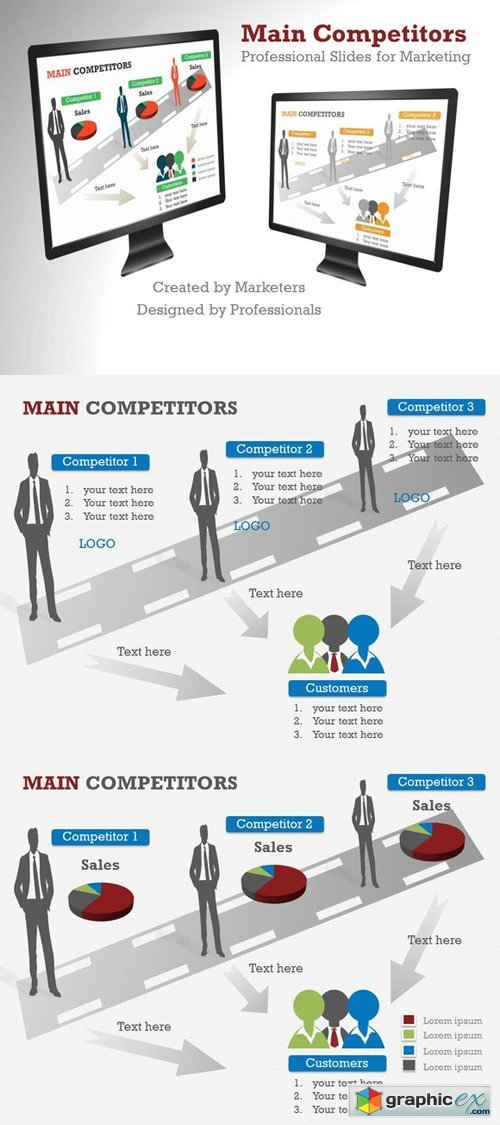 Main Competitors PowerPoint Template