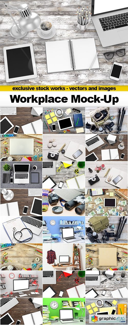 Workplace Mock-Up - 25x JPEGs