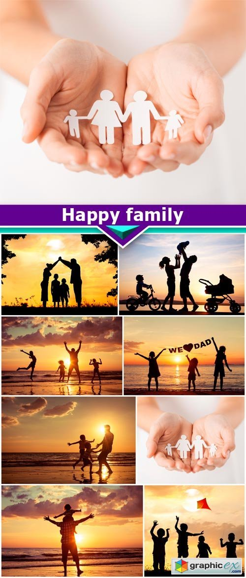 Happy family 8X JPEG