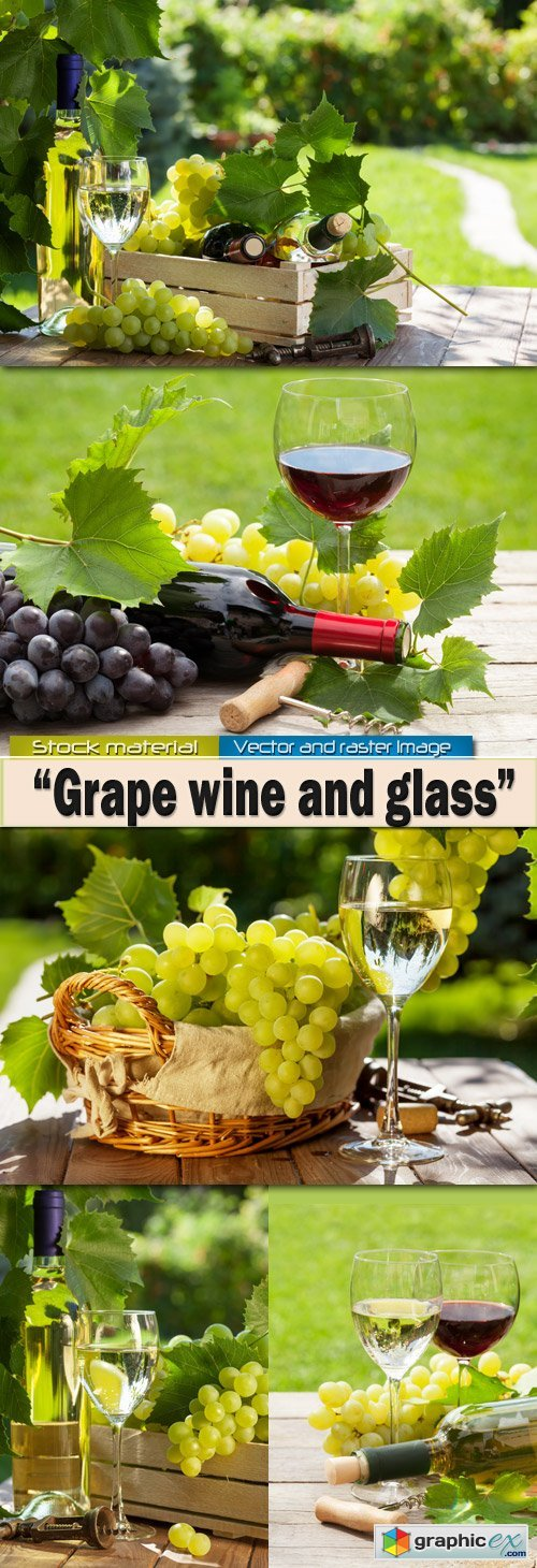 Grape wine and glasses