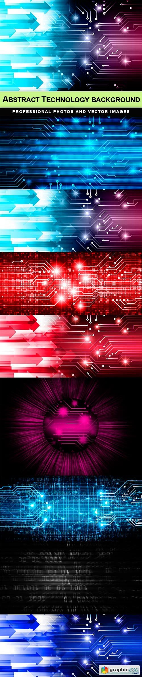Abstract Technology background - 8 UHQ JPEG