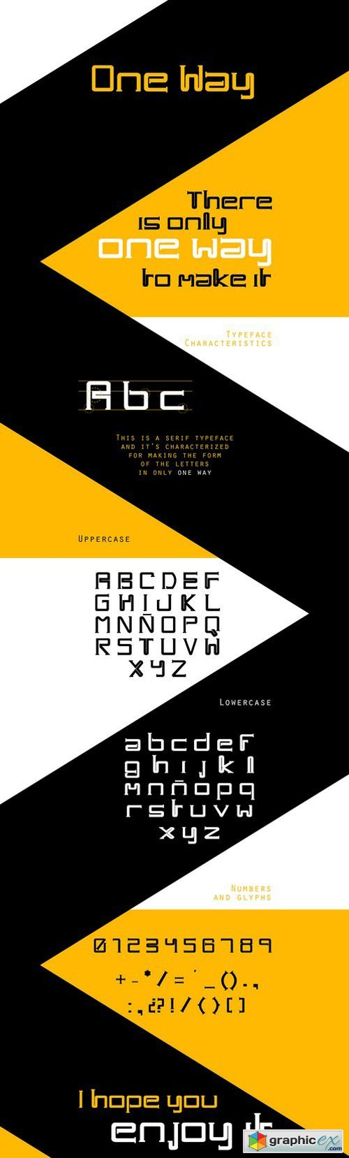 One Way Typeface